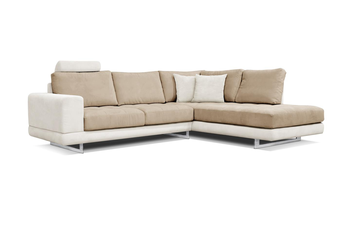 Acheter votre canapé d angle en microfibre beige pieds