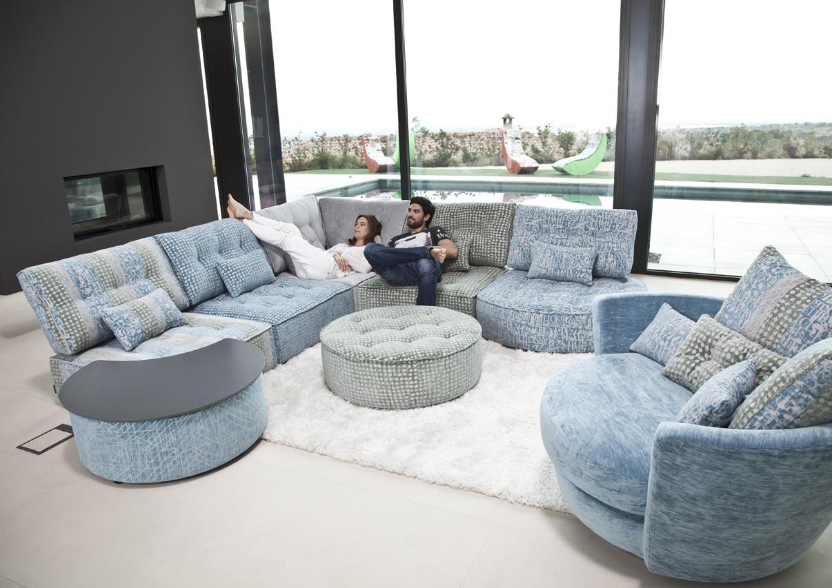 Acheter votre canapé d angle modulable camaïeu océan chez
