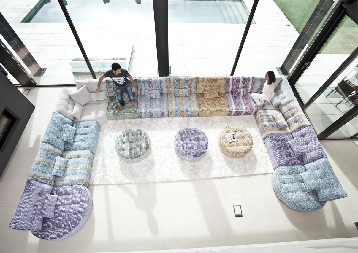 Acheter votre grand canapé d angle modulable coloré et