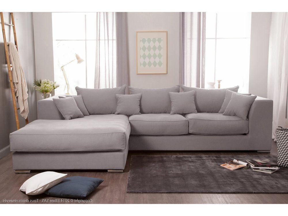 Canapé d angle en coton et lin déhoussable EDWARD