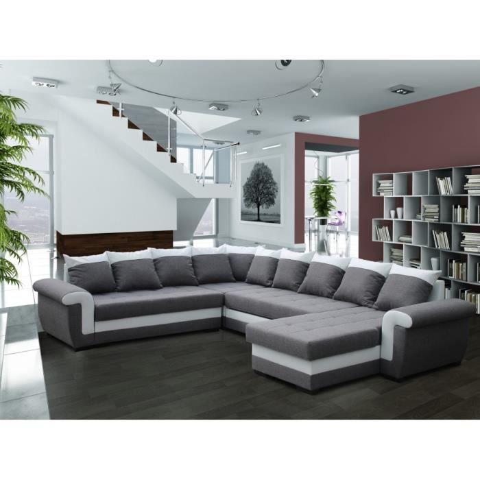 Canapé d angle reversible Milano gris sofa divan Achat