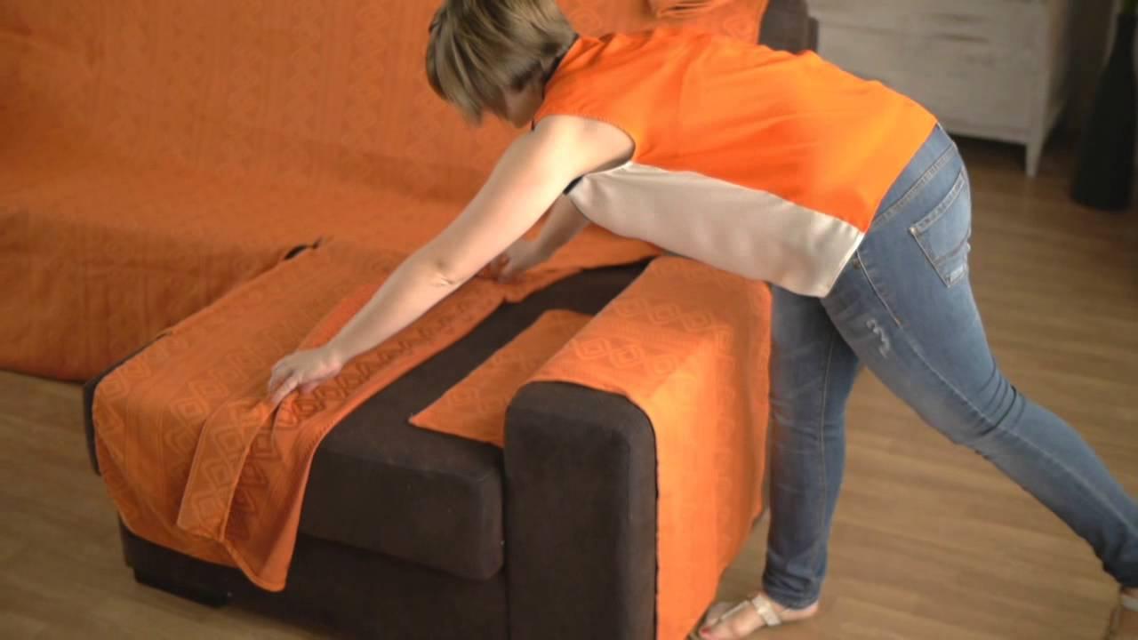 Housse pour canapé d angle accoudoirs indépendants
