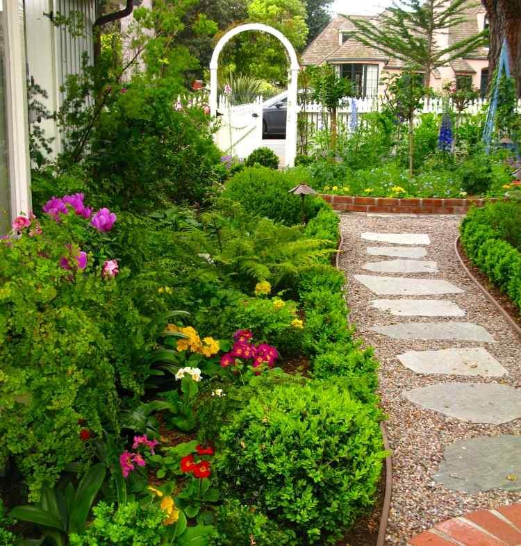 Aménagement allée de jardin types et idées intéressants