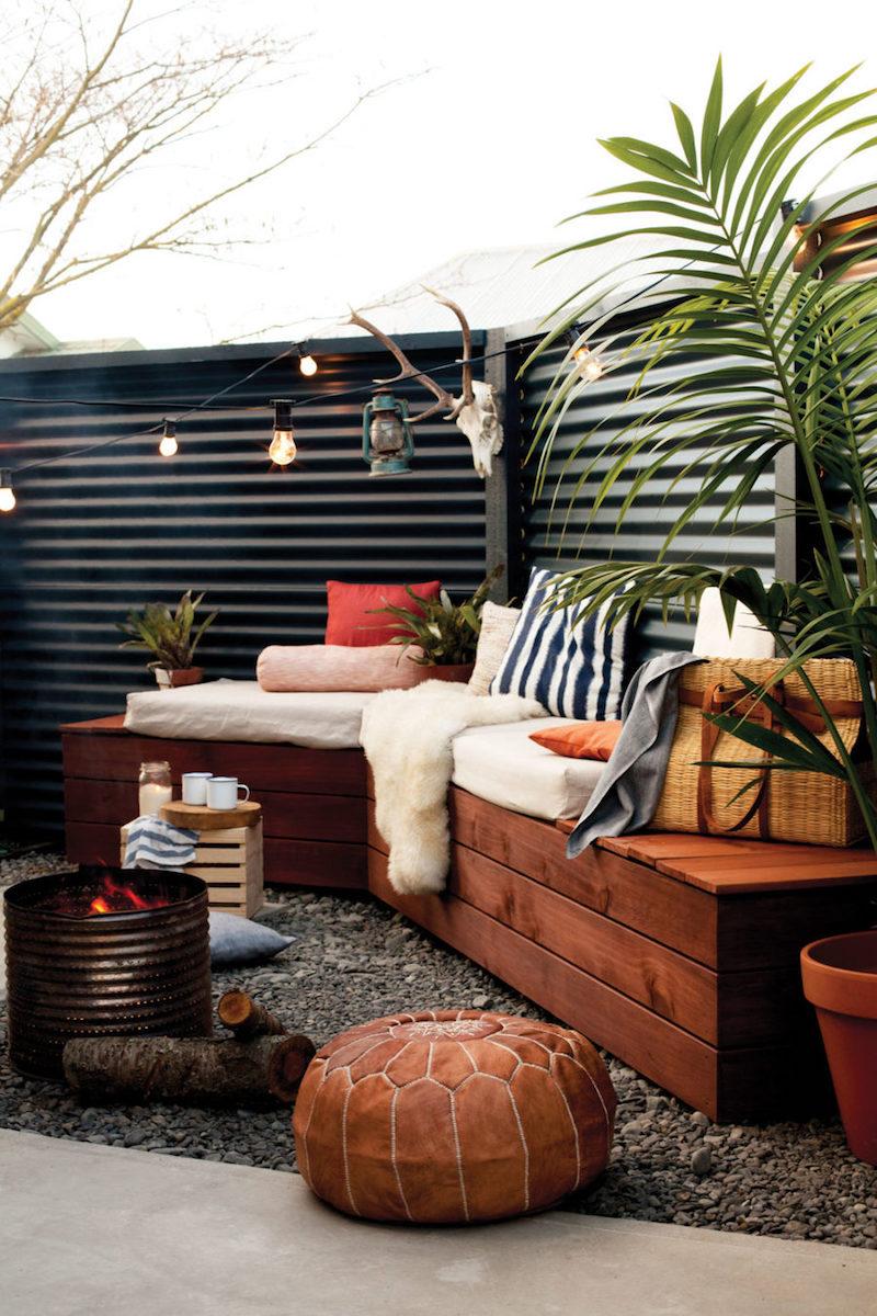 Aménagement cour arrière idées de paysagement meubles