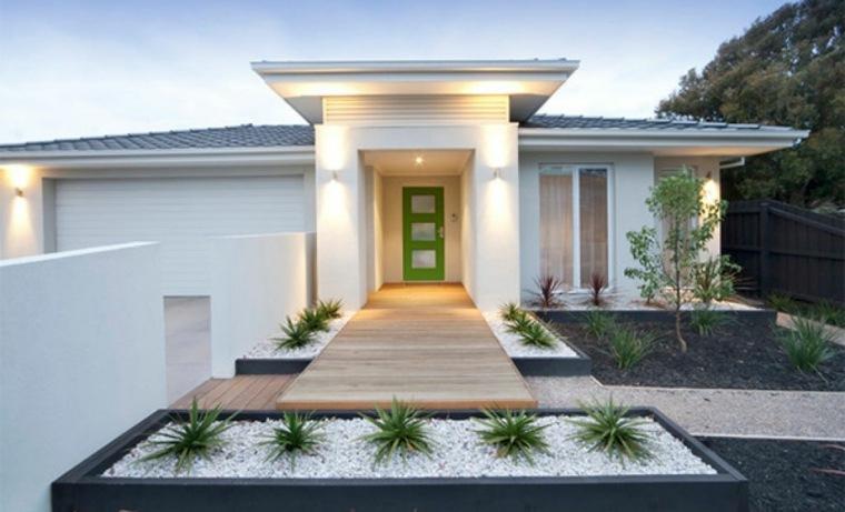 Aménagement extérieur maison jardins d entrée modernes