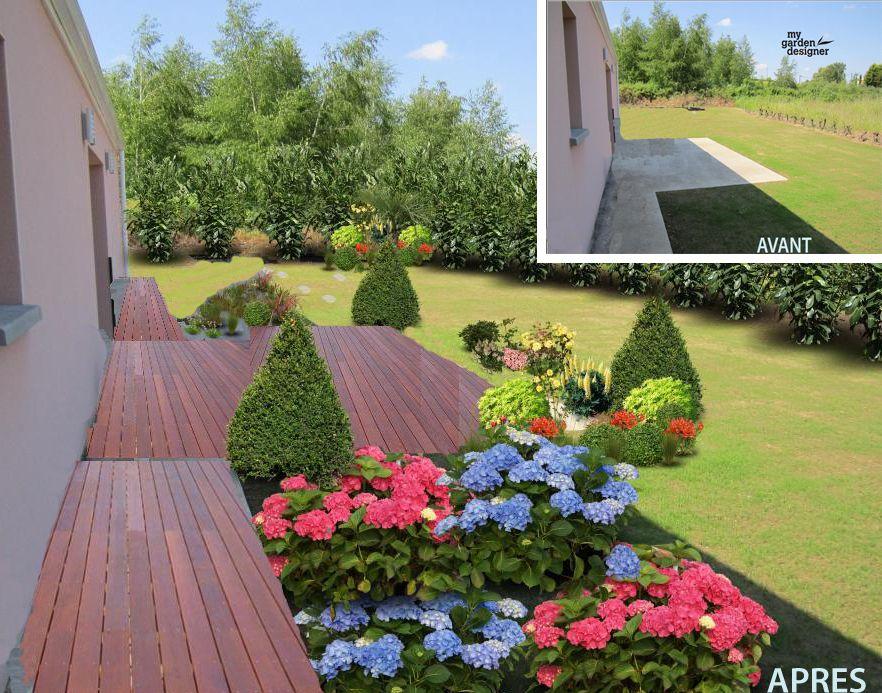 Aménagement jardin et terrasse Avant Apres avec My Garden