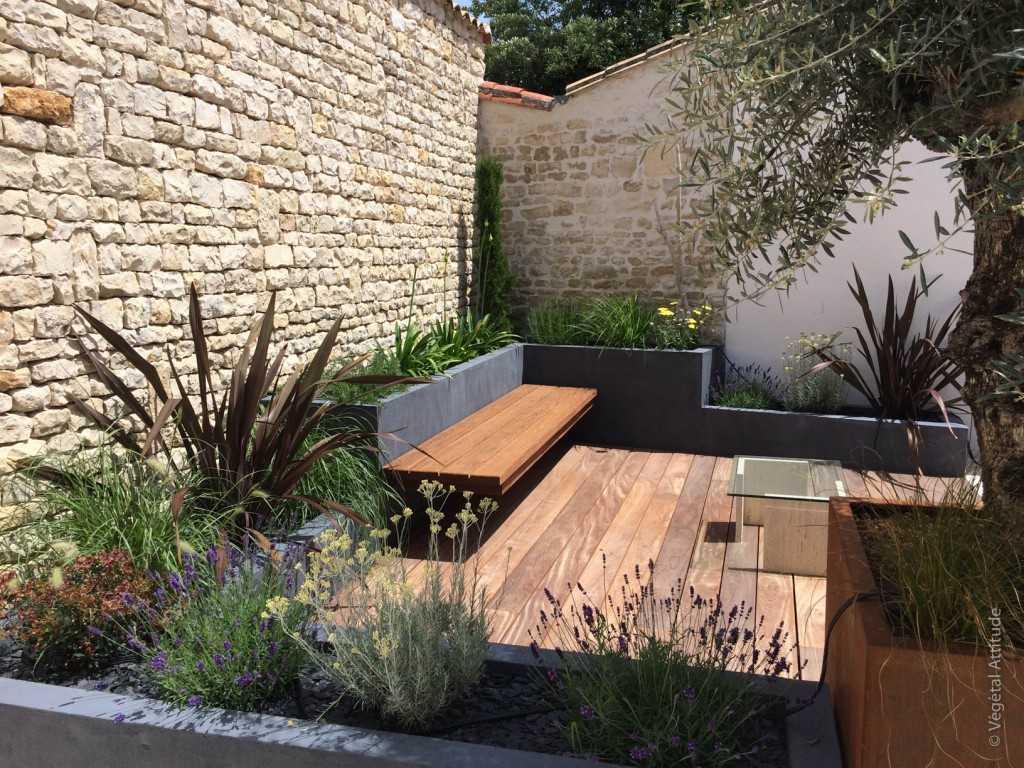 Aménagement terrasse de jardin patio La rochelle Ile de Ré