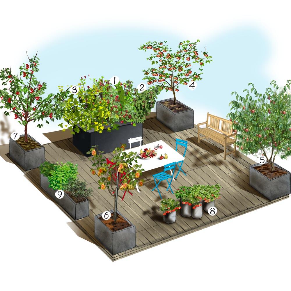 Terrasse gourmande Terrasse balcon et pagnie