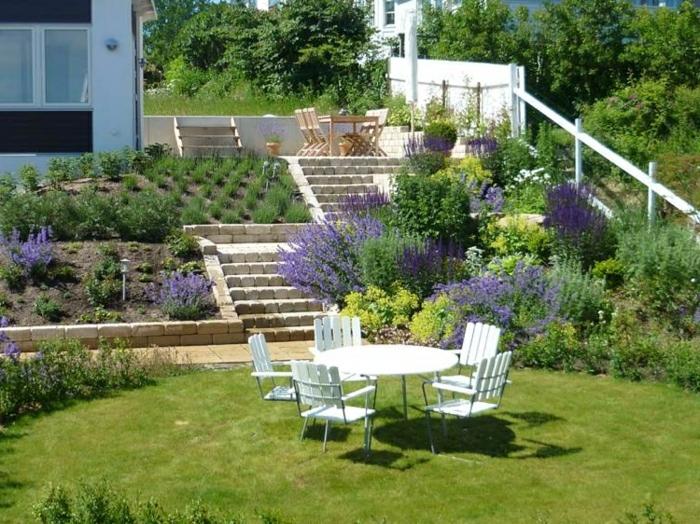 Aménager Un Jardin En Pente Aménagement Jardin En Pente Idées Pour Vous Faciliter La