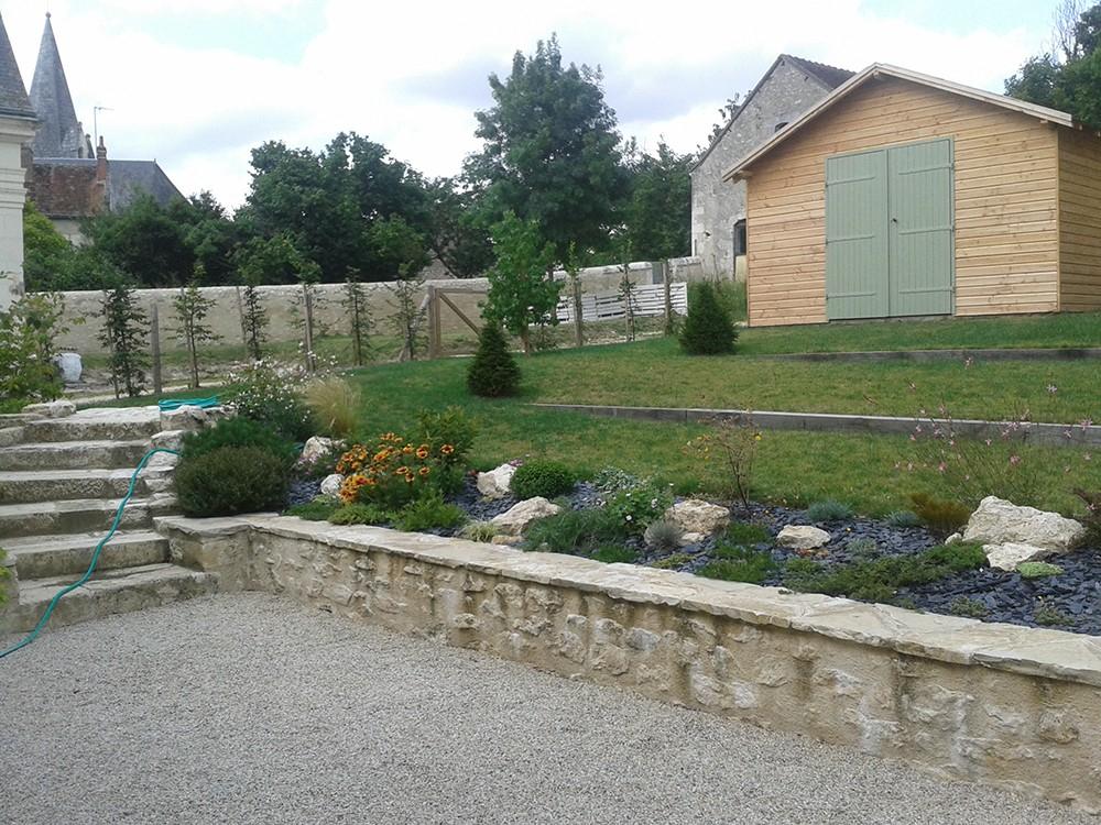 Aménagement jardin en pente Lantana Paysage