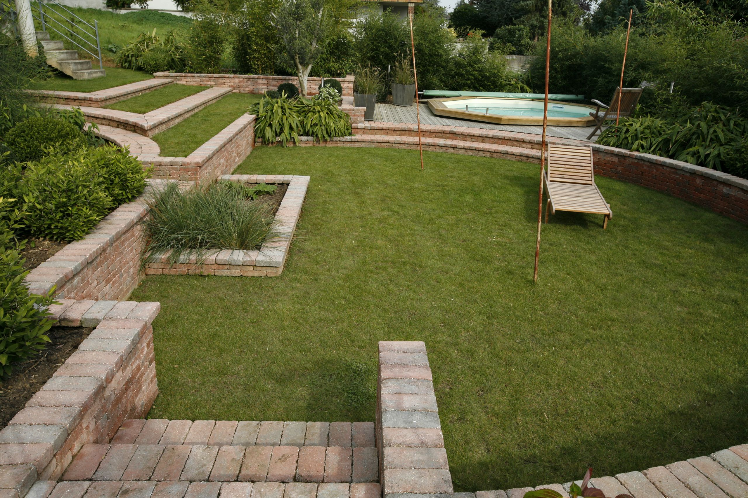 amenagement jardin terrain en pente