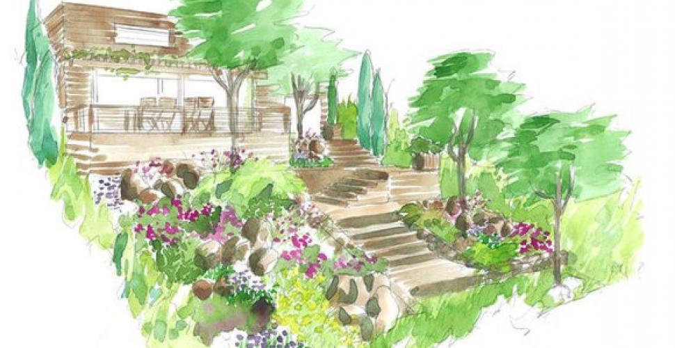 Conseils de paysagiste un jardin en pente M6 Deco
