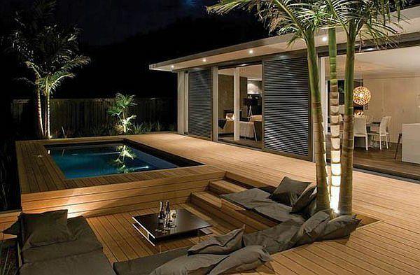 Aménager Un Jardin Rectangulaire Terrasse En Bois Ou Posite Idées Merveilleuses Pour L