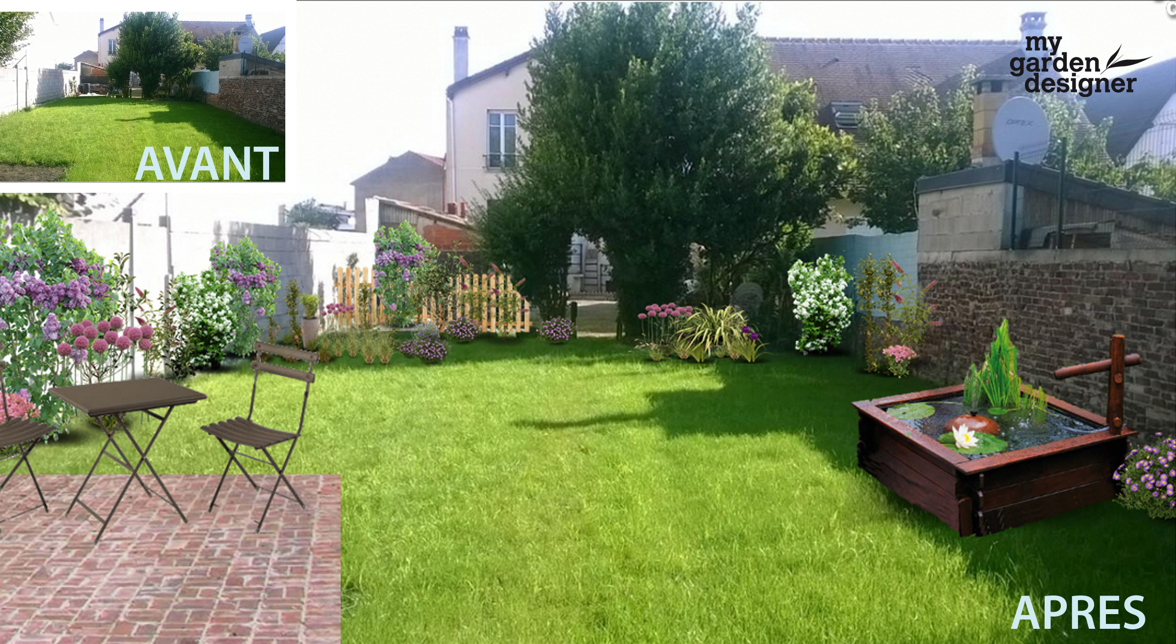 Aménager un jardin carré en Ile de France