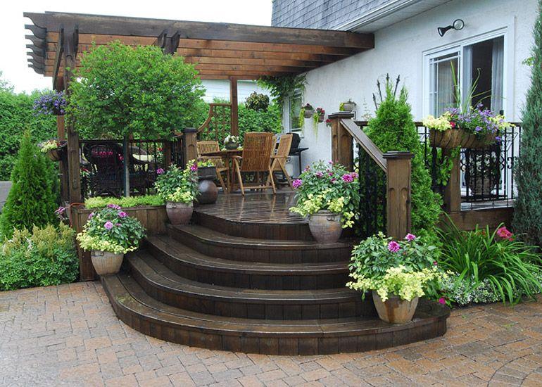 Aménagement paysager résidentiel Salon extérieur