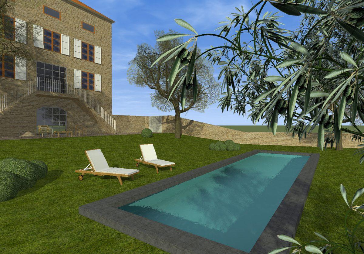 Aménagement Extérieur Maison Terrain En Pente aménagement de terrain amenagement piscine terrain en pente
