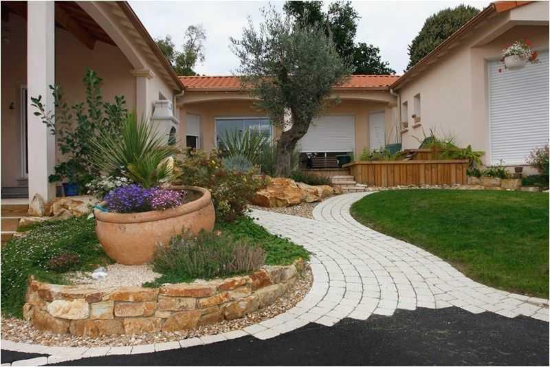 Admirable Amenagement Devant Maison Incroyable Idee Amenagement Jardin WV-01