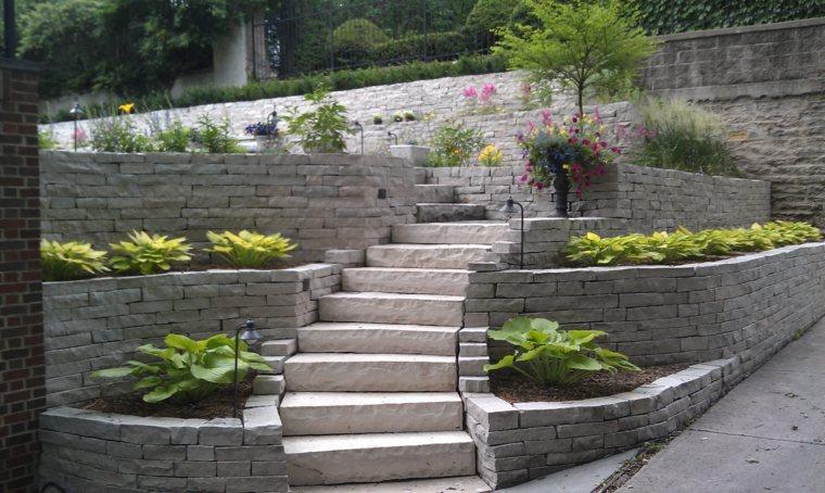 Escalier extérieur jardin pour un espace vert optimisé
