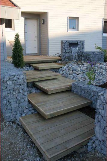 Que mettre sur les marches béton de l escalier extérieur