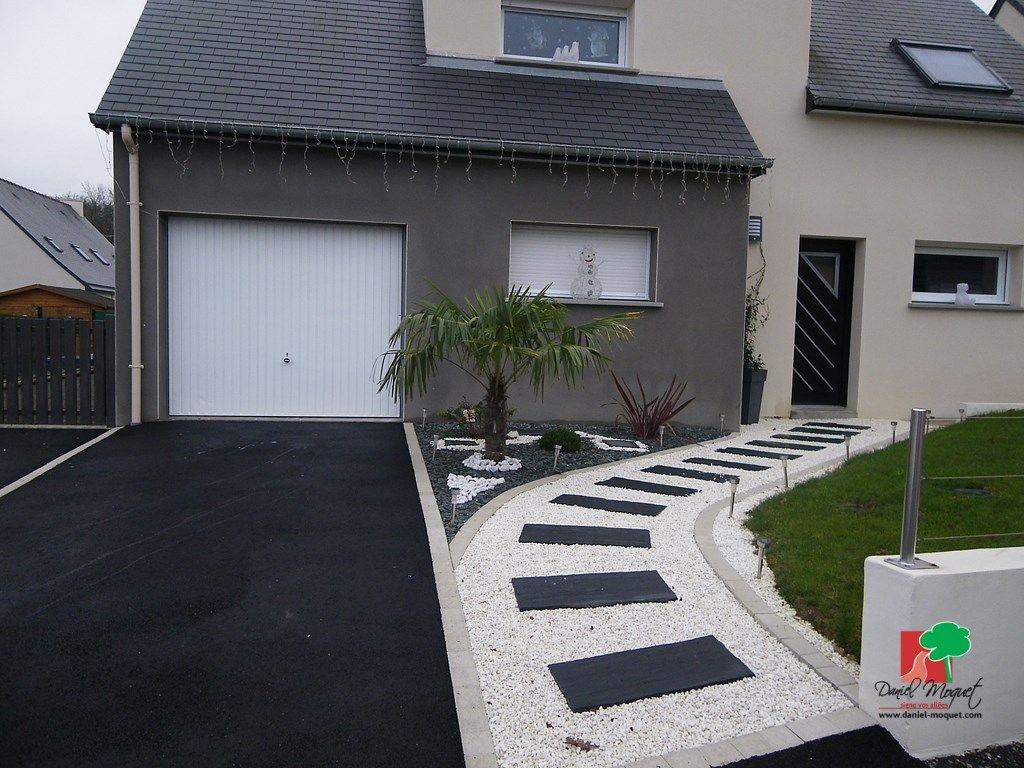 Aménagement Extérieur Entrée Maison idee amenagement jardin devant maison