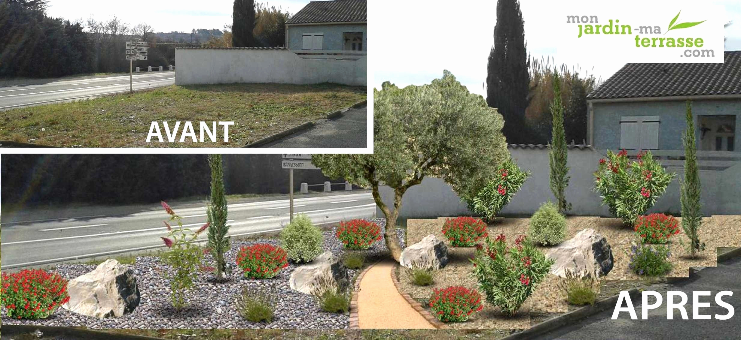 Jardin Devant Maison Moderne Idees