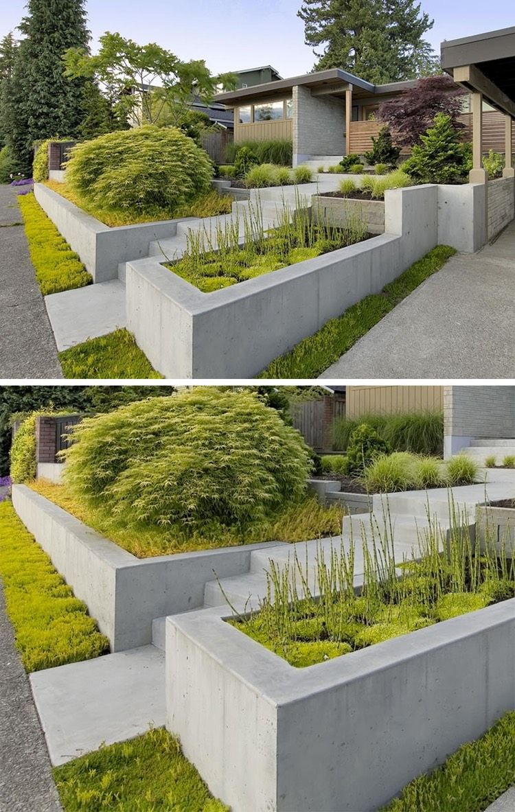 Aménagement D Un Parterre De Fleurs aménagement jardin moderne parterre surélevé et bac à fleurs