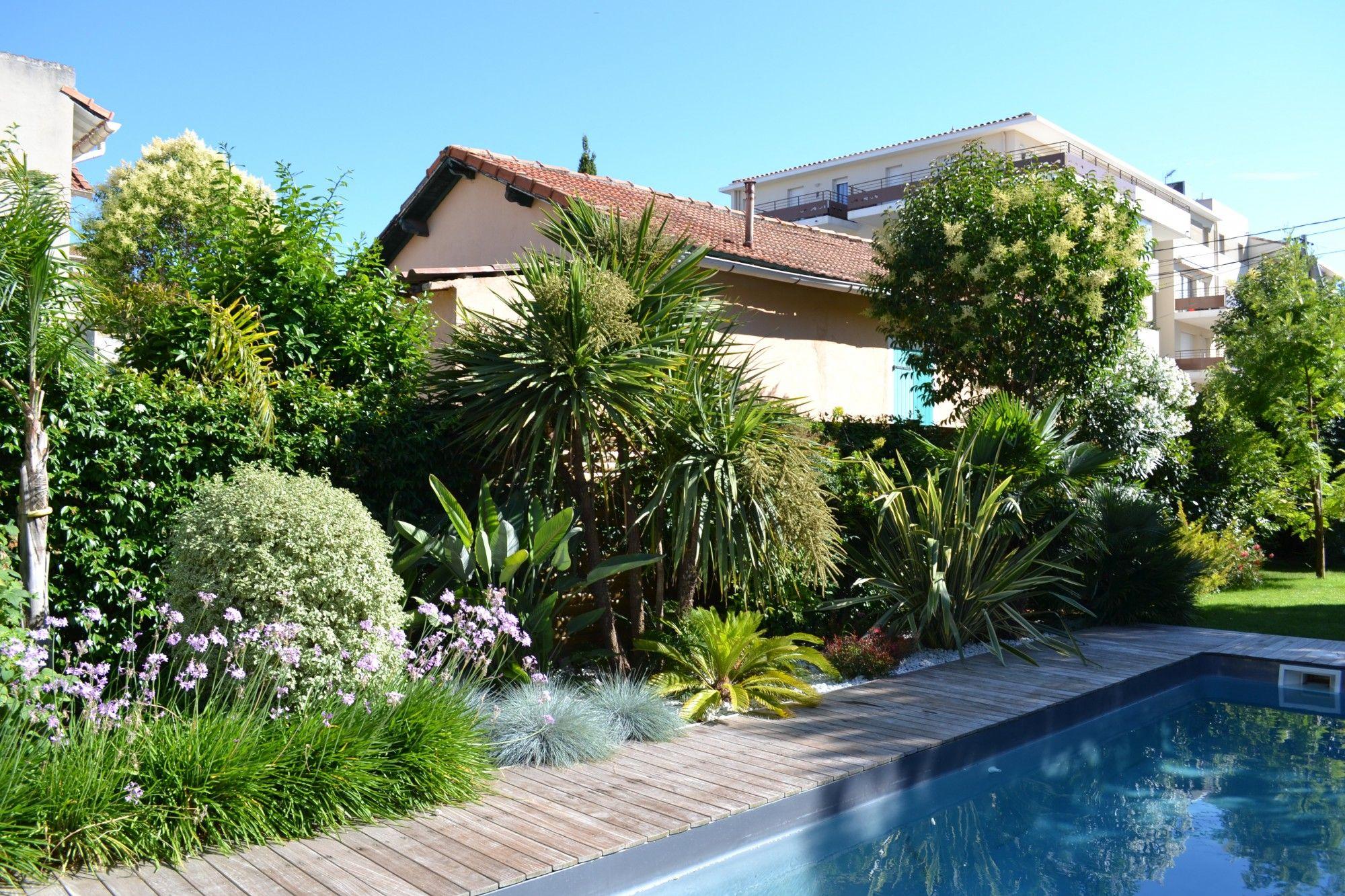 Amenagement Jardin Avec Piscine Bois amenagement jardin paysager piscine terrasse en bois