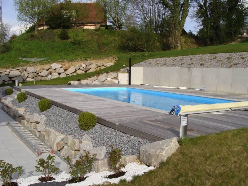amenagement jardin en pente avec piscine le spécialiste