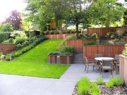 Aménagement jardin en pente douce ment profiter du