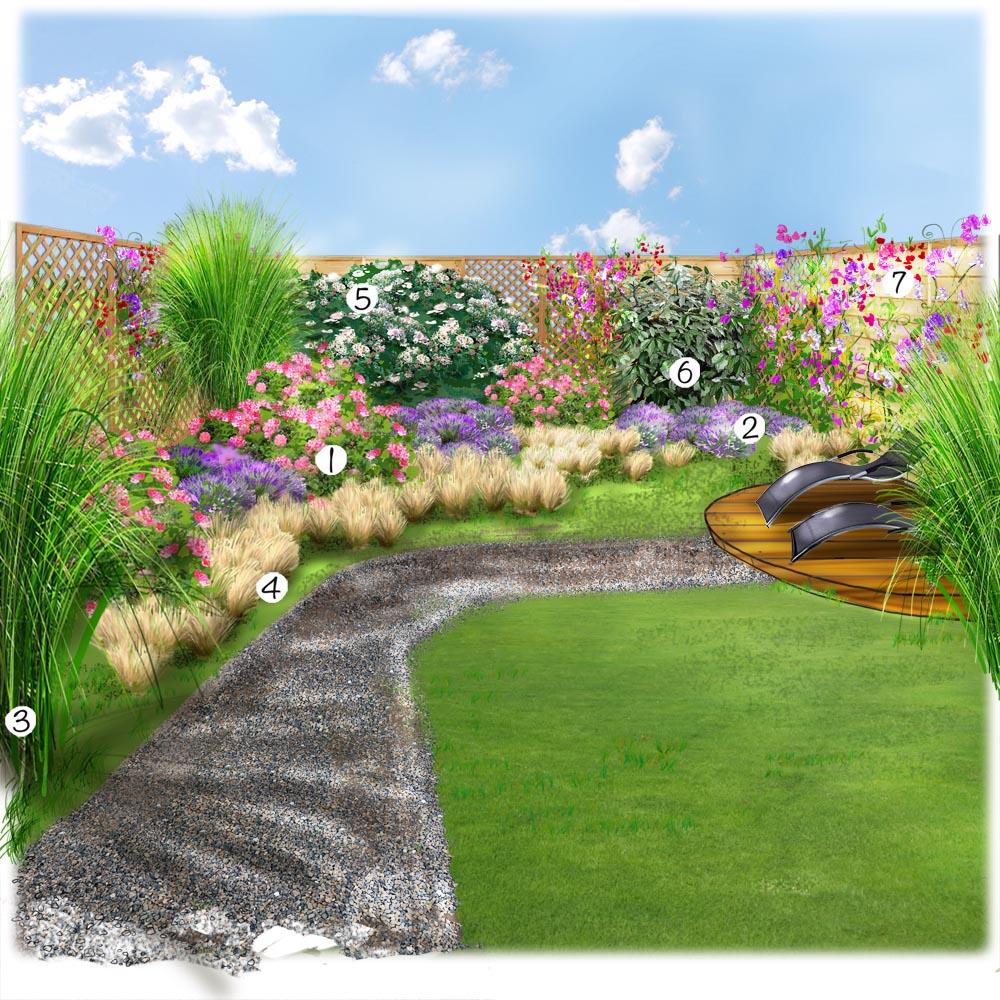 Un petit jardin bien tranquille Jardin extérieur