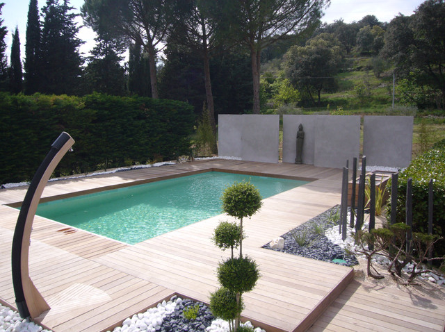 amenagement piscine contemporaine