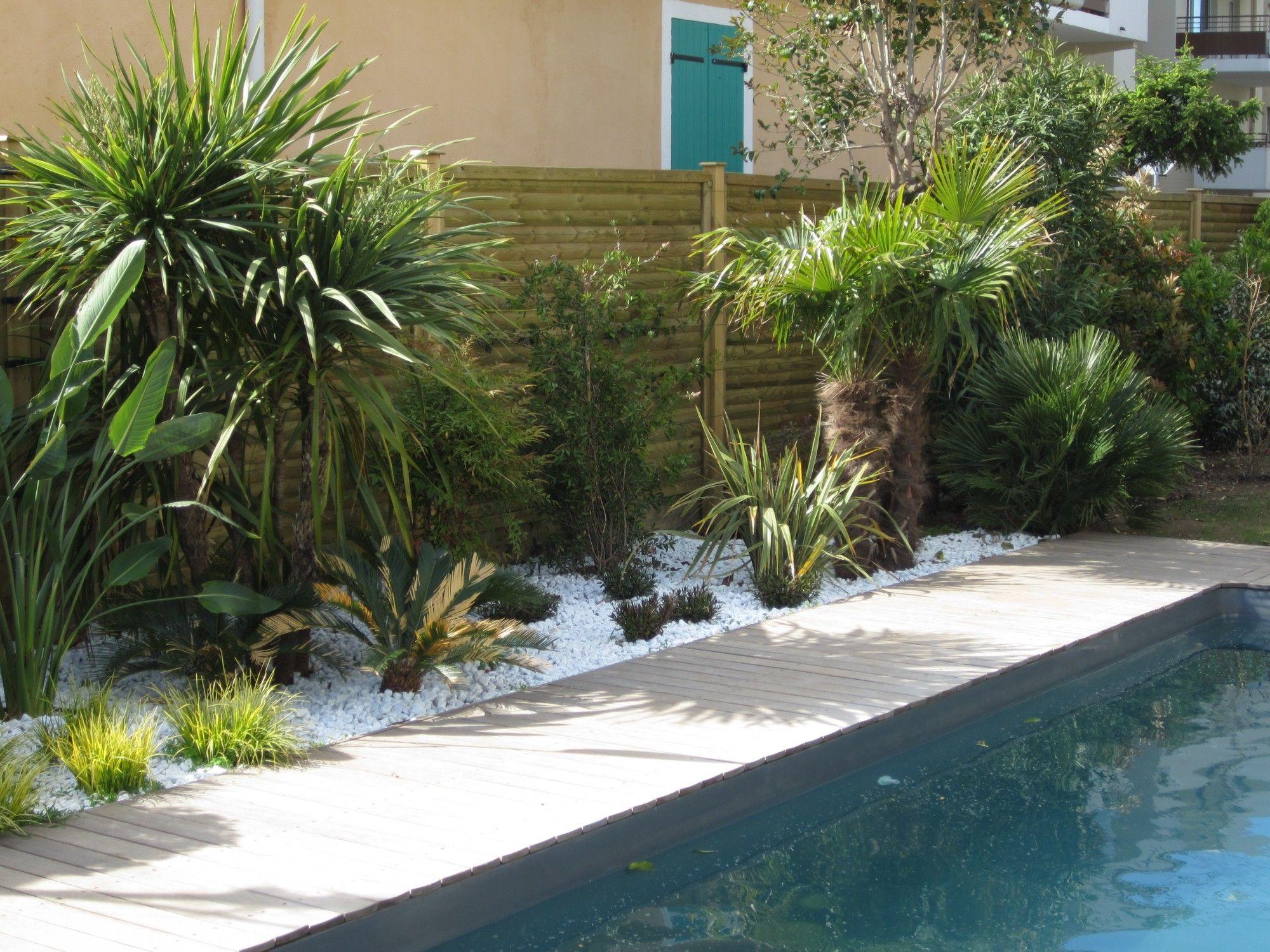 Création d un espace paysager en bord de piscine Création