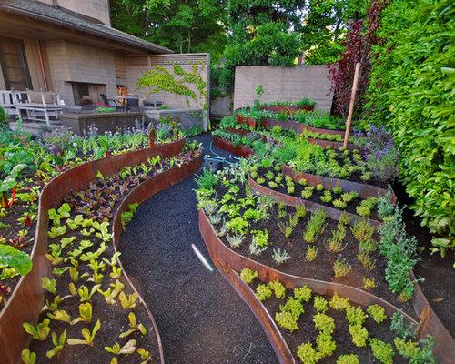 Aménagement de jardin potager contemporain s et