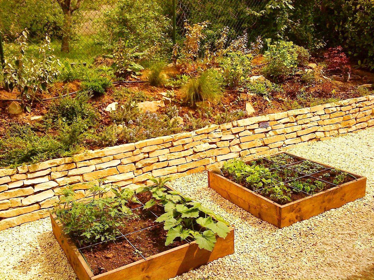 Amenagement jardin potager en hauteur Sud Jardin Sud