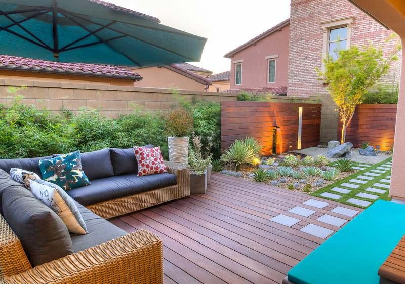 Aménagement Jardin Terrasse Aménagement Petit Jardin Dans L'arrière Cour–idées Modernes