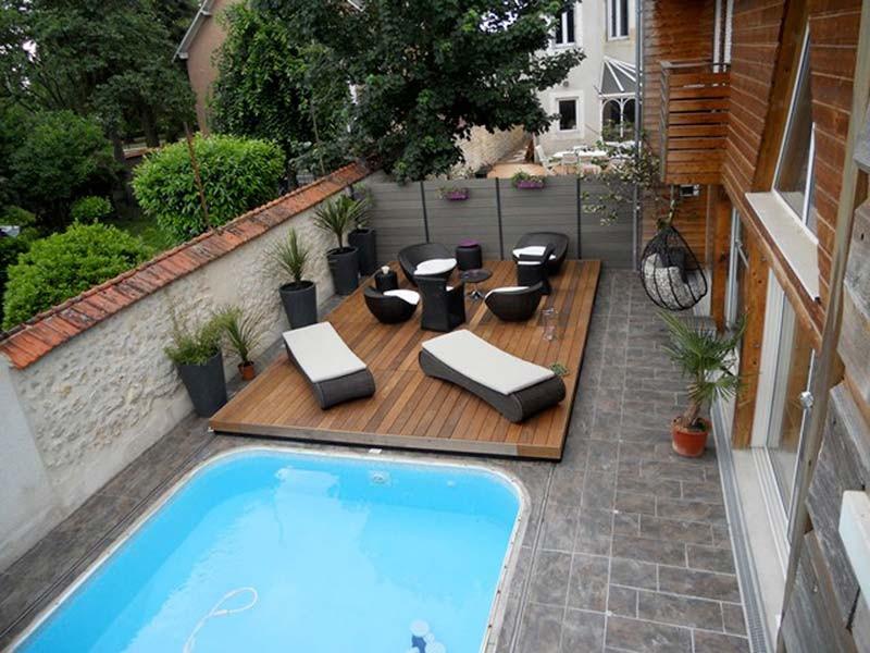 Amenagement petit jardin avec piscine