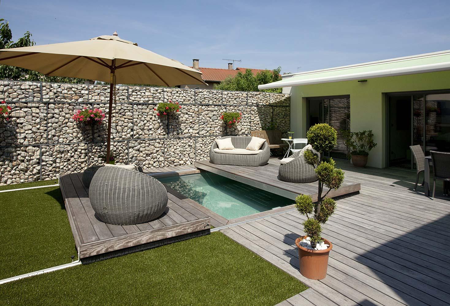 Amenagement petit jardin avec terrasse