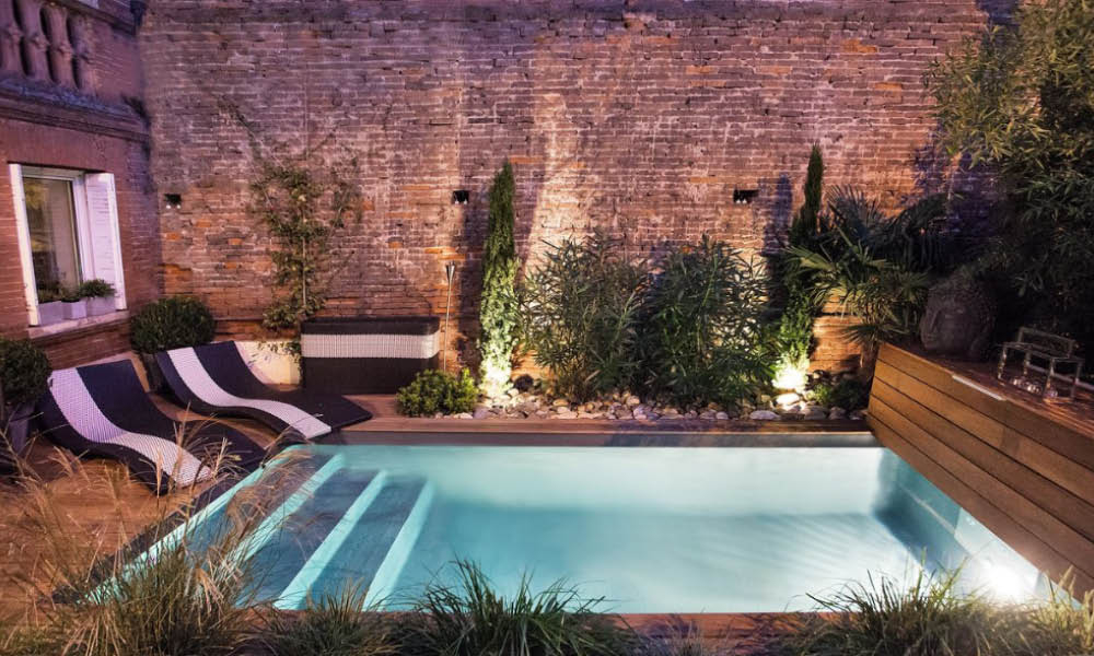 Amenagement petite terrasse avec piscine Mailleraye