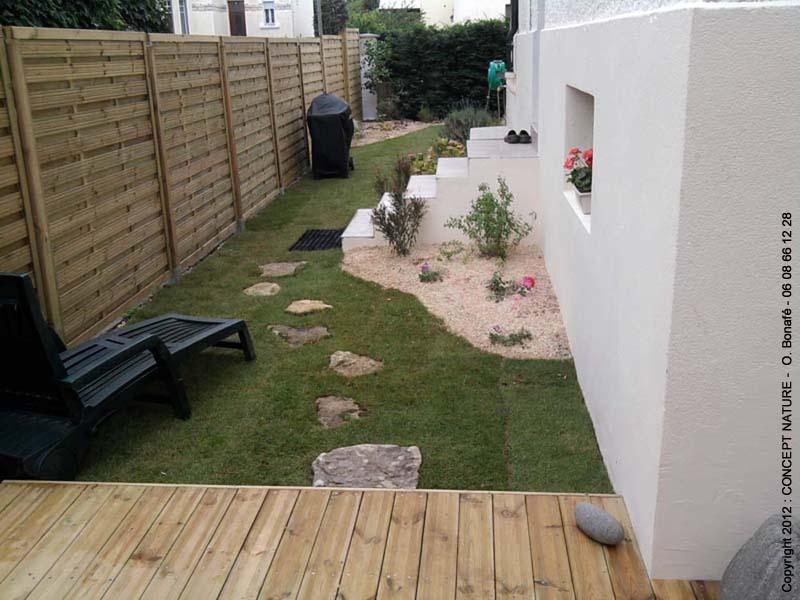 Terrasse en bois jardin de ville veranda styledevie
