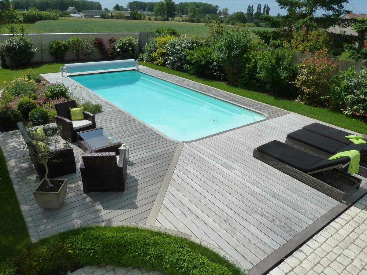 Amenagement Jardin Avec Piscine Bois amenagement piscine bois bassin intégré extérieur jardin en