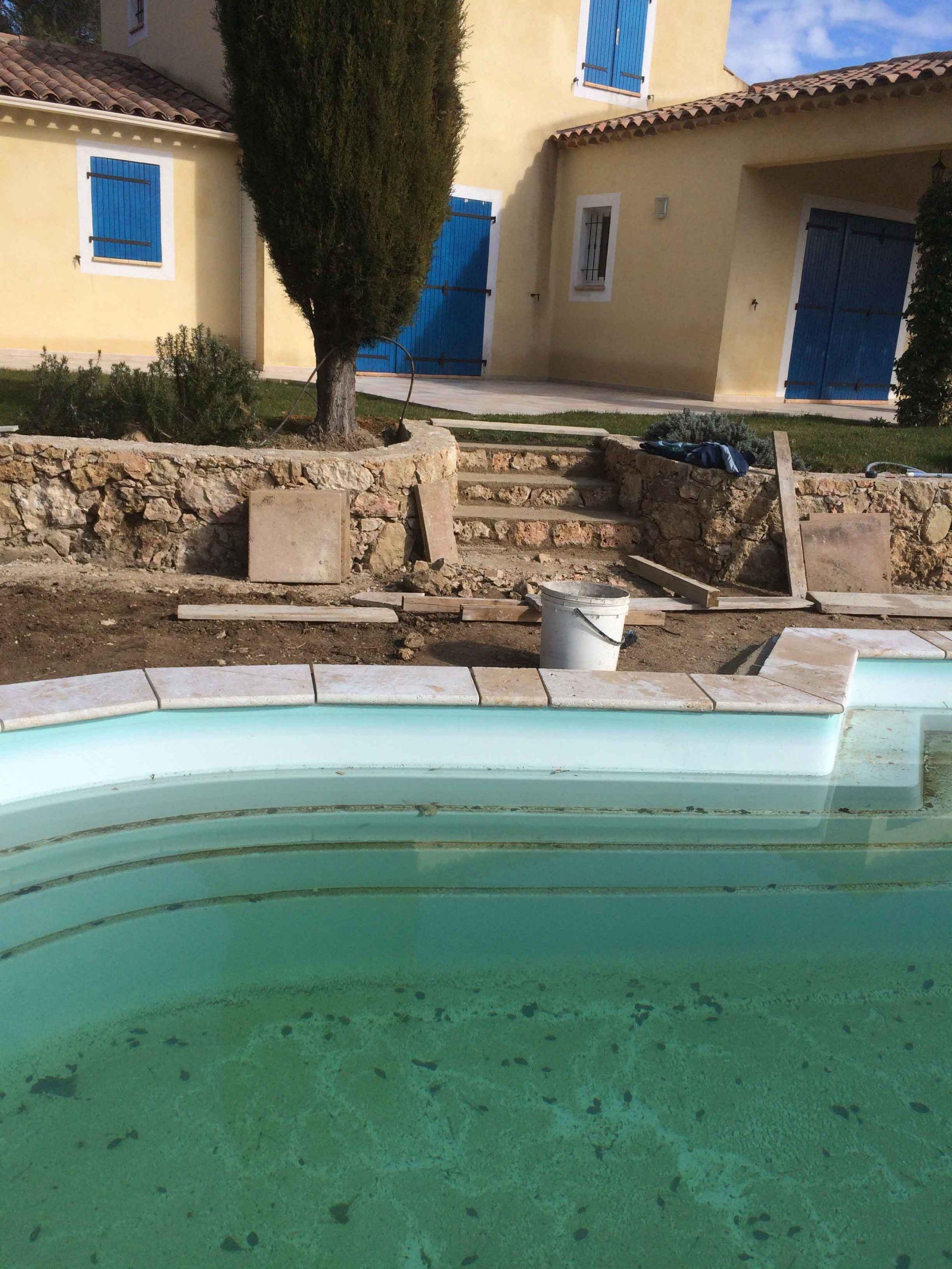 Aménagement plage de piscine