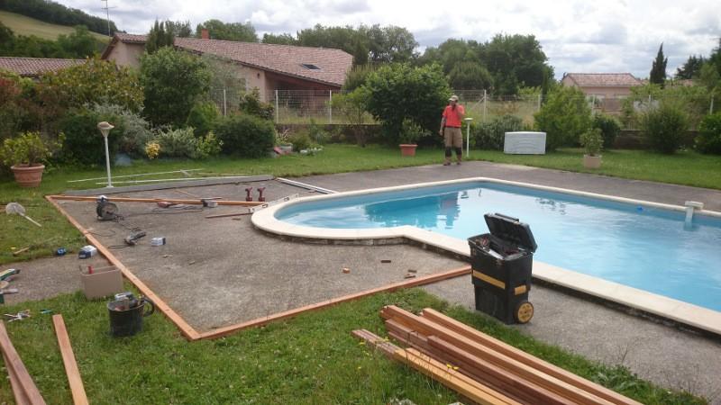 Plage de piscine en bois Avril 2015