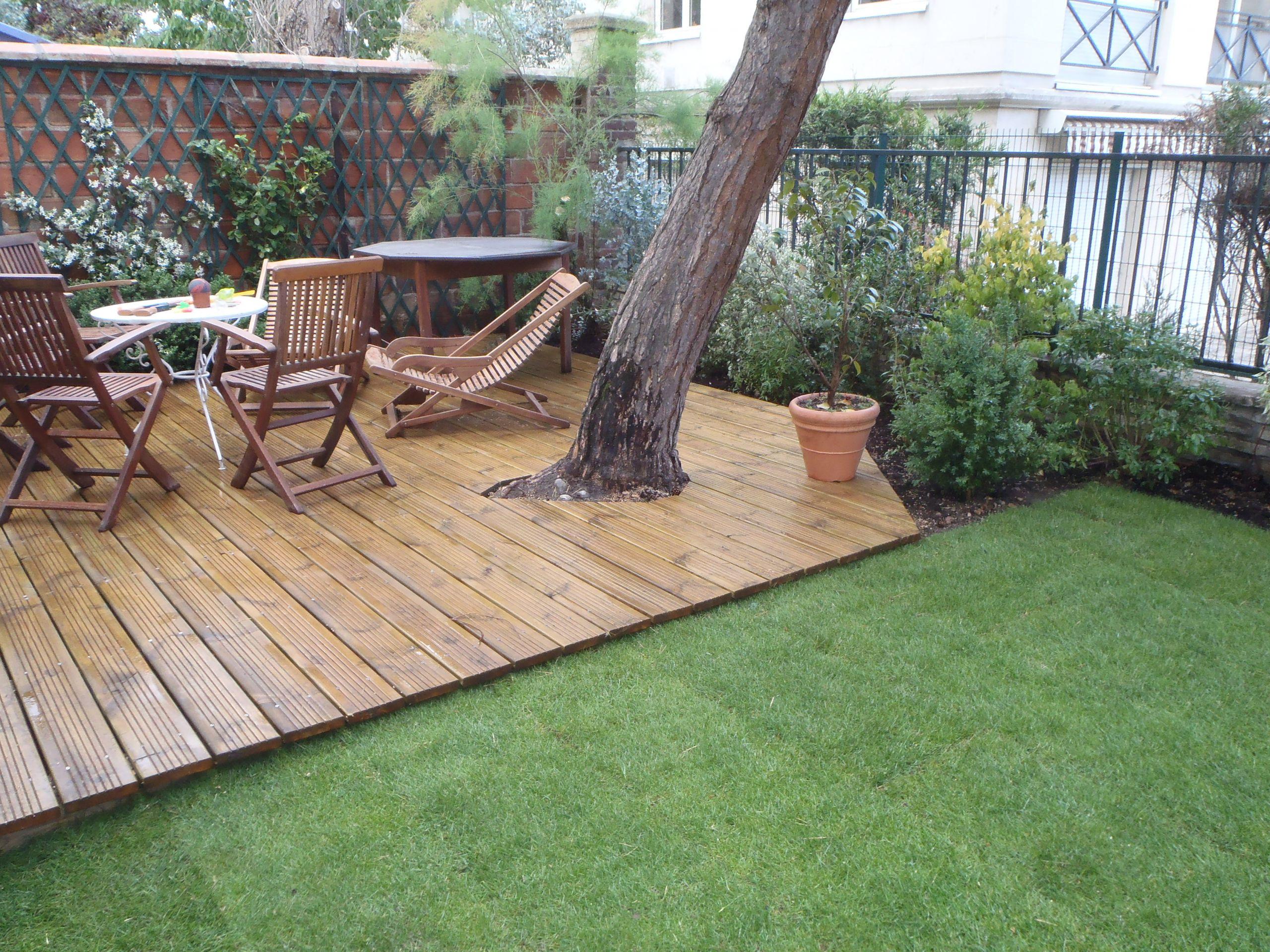 amenagement jardin terrasse en bois