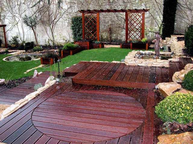 Amenagement terrasse bois jardin
