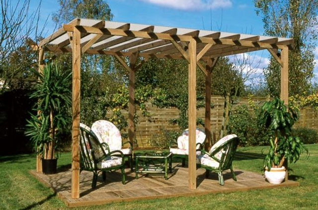 Gallery About Pergola Bois Rondin quot
