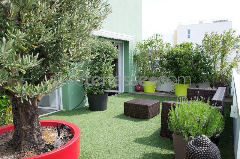 Terrasse d appartement Mailleraye jardin