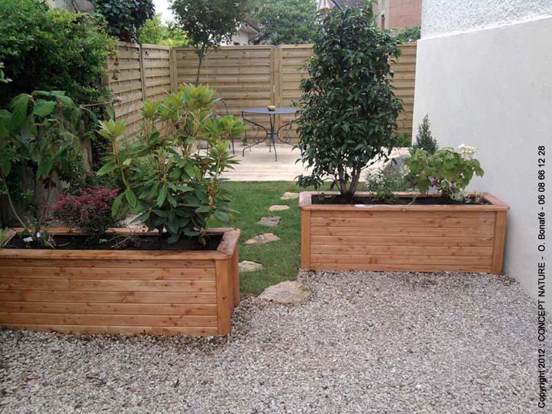 Terrasse jardin amenagement