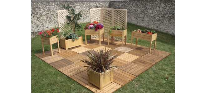 Deco jardin bois Mc immo