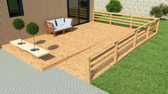 Une terrasse en bois pas cher Petite Maison Bois