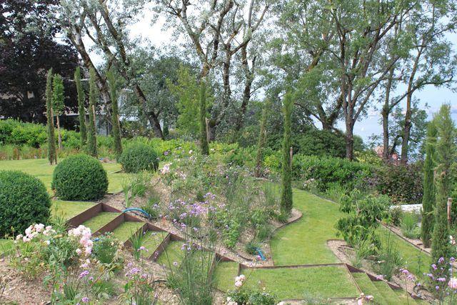 Aménagement d un jardin en pente